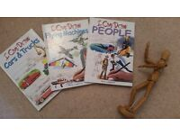 Bundle of 3 NEW Learn-to-Draw books and Wooden Mannequin - all for £7.00