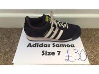 Adidas Samoa - Size 7 - Blue