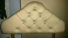 Single divan bed and headboard