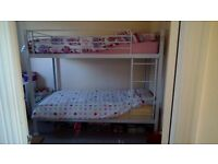 White metal bunk beds (frame only)