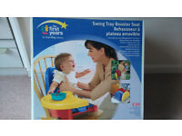 Portable Swing Tray Booster Seat for Meal Times