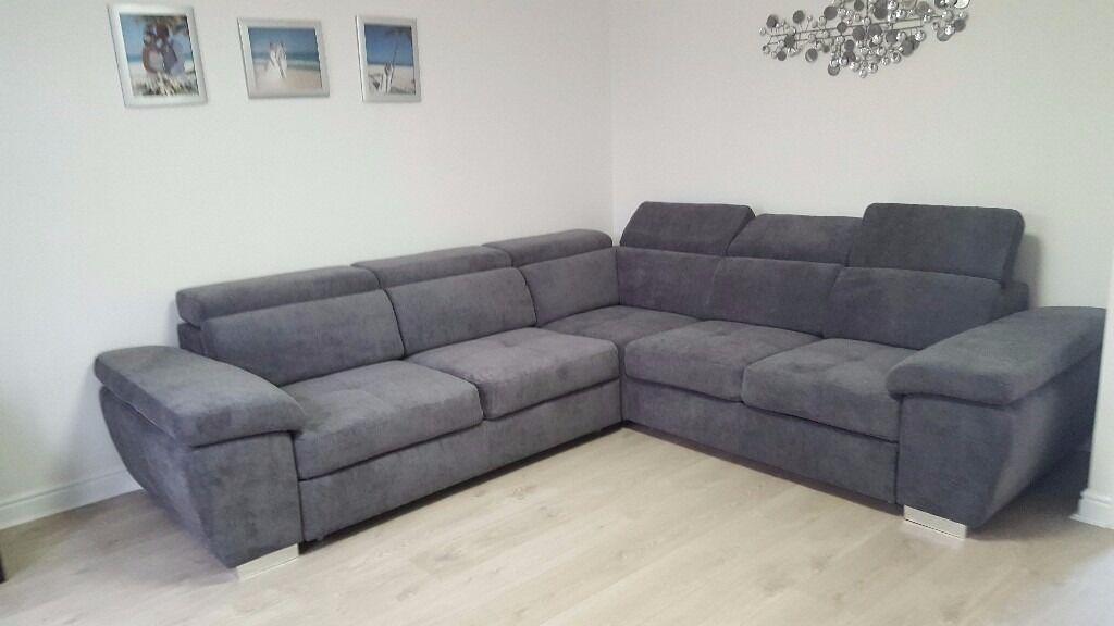 MONZA Italian Corner Sofa Bed Delivery 1-10 Days Brand New