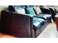 FREE worn leather sofa