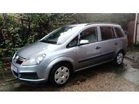 Vauxhall Zafira ,Silver, low mileage ,good condition ,Mot til May 2018