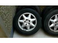 Mercedes alloy wheels set of 4 with good tyres