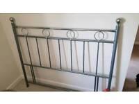 Standard double bed metal headboard