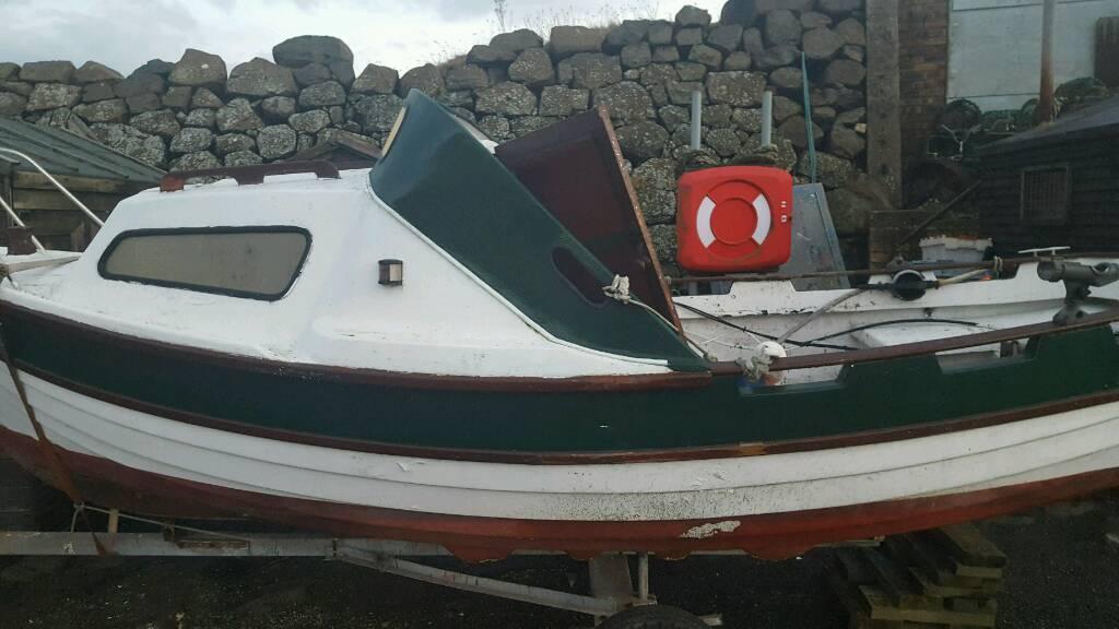 17ft sea nymph fishing boat 8hp yamaha in kinghorn fife for Yamaha fishing boats