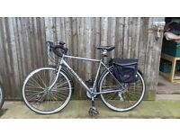 """Dawes Galaxy Touring Bike 21"""" frame 2 years old excellent condition + panniers"""