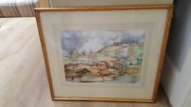 Original water colour painting by Mark Treverick beautifully framed 'Near Totnes'