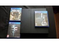 PS4 1Tb console and 3 Games