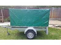 New Brenderup 1205s tipping model kippi 200 car trailer with high cover 83cm.