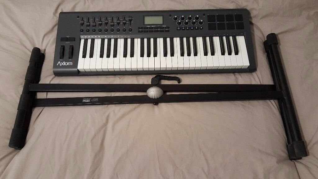 m audio axiom 49 key semi weighted keys midi keyboard with stand in newcastle tyne and wear. Black Bedroom Furniture Sets. Home Design Ideas