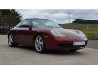 Porsche 911 Carrera (2); Arena Red (996) with Graphite Grey Leather
