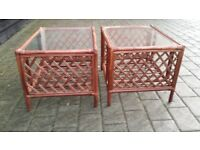 2x wicker tables in good condition.