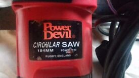 Power Devil Circular Saw with Blade in Great Condition