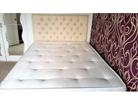 Orthopaedic Handmade Divan Double size bed ,12.5g bonnell Spring,2 Storages and Leather headboard