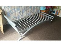 Single metal frame with mattress