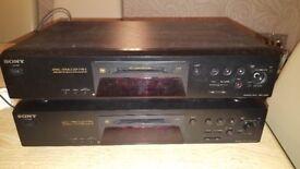 Sony Minidisc x 2
