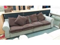 Large 4 seater fabric sofa