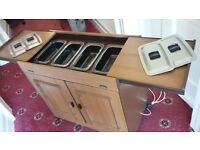 Electric heated Hostess trolley