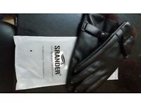SRANDER MENS TOUCH SRCEEN LEATHER GLOVES BRAND NEW
