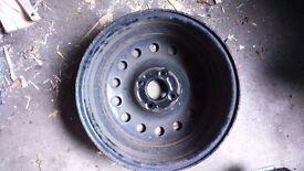 4 Steel wheels