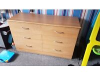 Beech coloured drawers