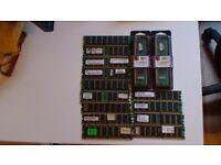 OLD TYPE RAM STICKS ALL 256MB