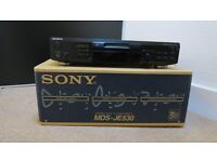 Sony MDS-JE530 MiniDisc player / recorder hifi separate - (Pitch control model) PRISTINE !