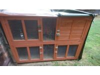 Bluebell Guinea Pig Rabbit Hutch for sale including rain cover. Nearly new.