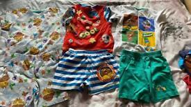 Boys pj shorts sets 2-3 years