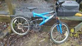 Kids full suspension mtb