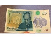 5 pound Note AA series