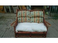 2 seater wicker sofa.