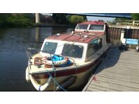"Canal/river cabin cruiser 24""7-6""10.. 3.5 years saftey test."