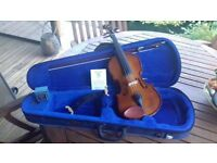 Stentor 3/4 Violin and case + Kun chin rest