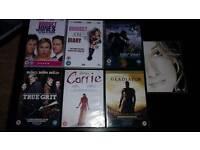 7 DVDS.BRIGET JONES 1& 2.CARRIE.TRUE GRIT.KING KONG.CELINE DION.GLADIATOR.ALL NEW