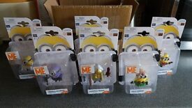 6 Minion Action Figures From Despicable Me, Brand New, Sealed!!