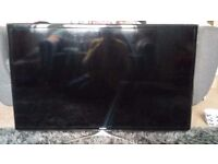 Samsung 40in 3d/hd tv, spares or repair (screen no longer works) 2 pairs of glasses included