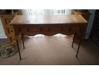 solid wood console table mexican pine