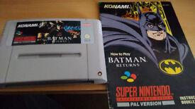 Batman Returns snes pal