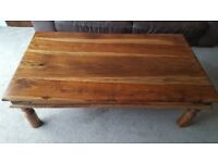 Large Sheesham Coffee Table