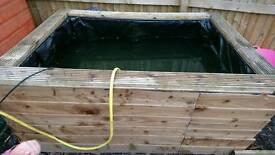 Wooden fish pond