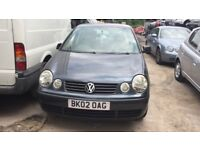 2002 Volkswagen Polo E 5dr 1.2 Petrol Grey BREAKING FOR SPARES