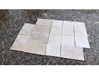 Brand new 1.8 square metres of real trevatine tiles cream/beige colour