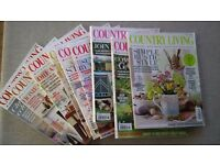 9 COUNTRY LIVING MAGAZINES 2015