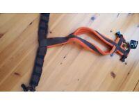 Dog-Games fleece harness size 4 orange & brown