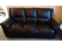 Fantastic pure black sofa