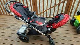 City select double buggy push chair + bassinet + Buggy Board