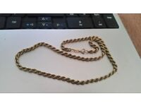 """9ct yellow gold rope chain necklace, marked 375, 17"""""""